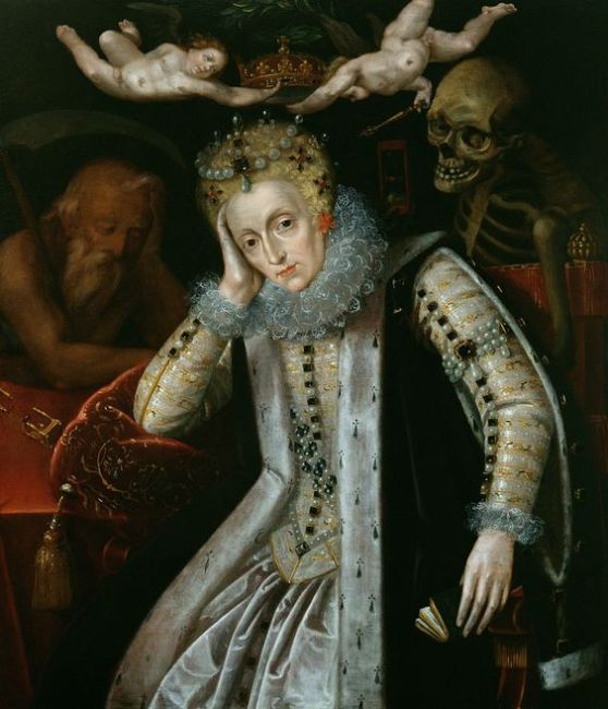 Elizabeth I with Father Time